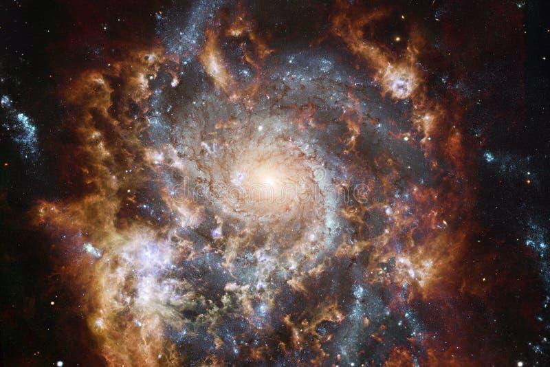 难以置信地某处美丽的星系在外层空间 科幻墙纸 美国航空航天局装备的这个图象的元素 向量例证