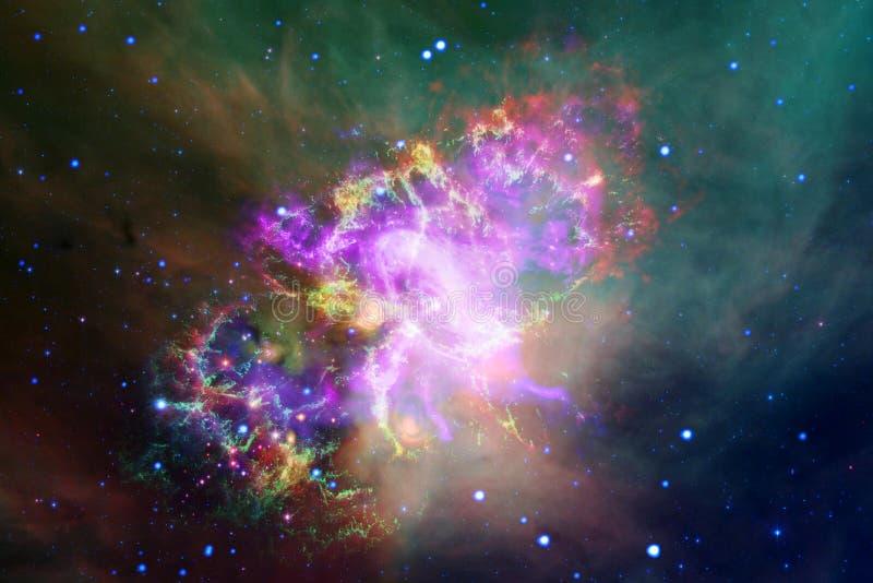 难以置信地美丽的星系远离地球的许多光年 美国航空航天局装备的这个图象的元素 免版税库存图片