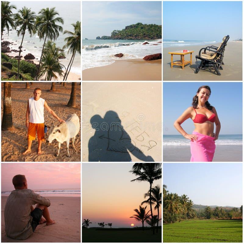 难以置信的印度Goa -拼贴画九张照片 库存照片