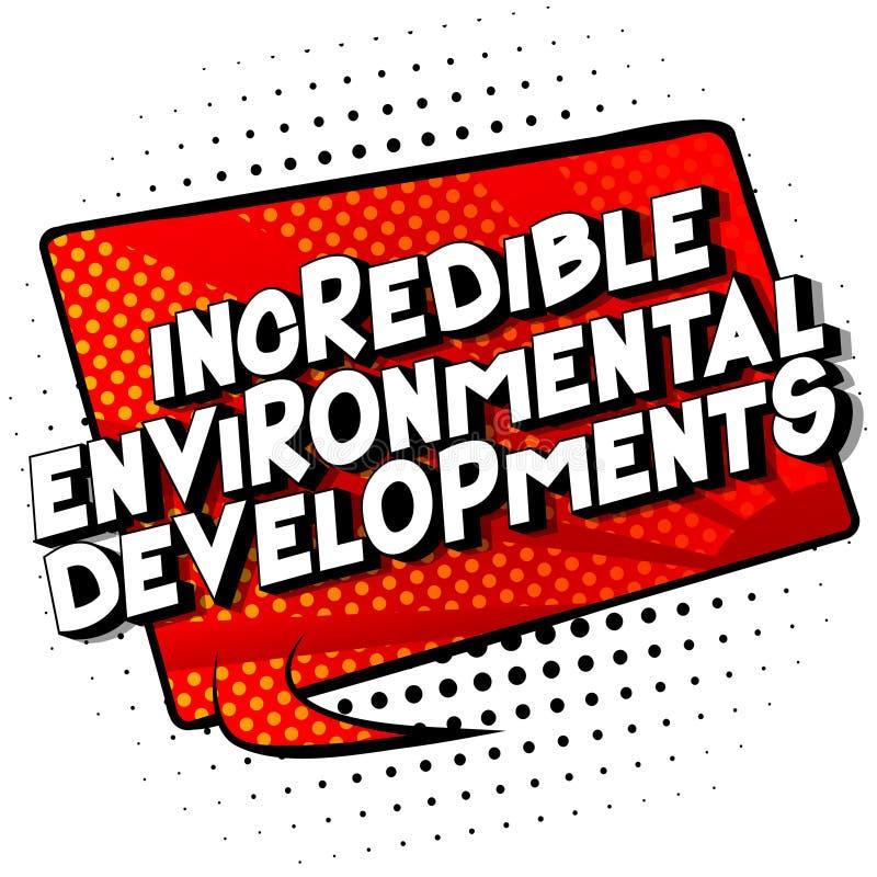 难以置信的环境发展-漫画样式词 皇族释放例证