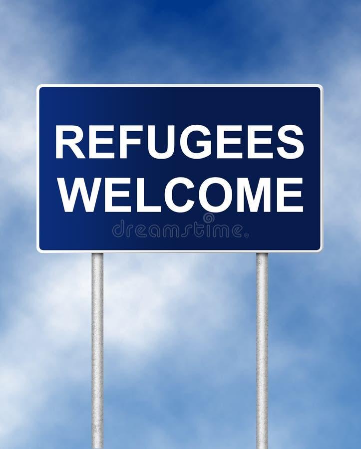难民欢迎 皇族释放例证