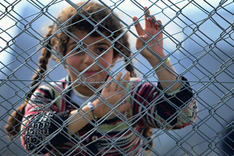 难民营的人们 免版税库存图片