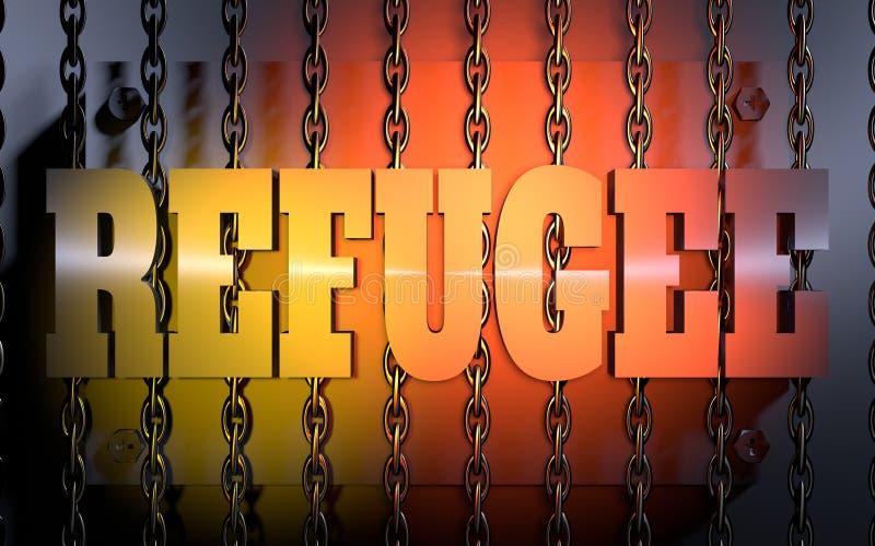 难民题材例证 向量例证