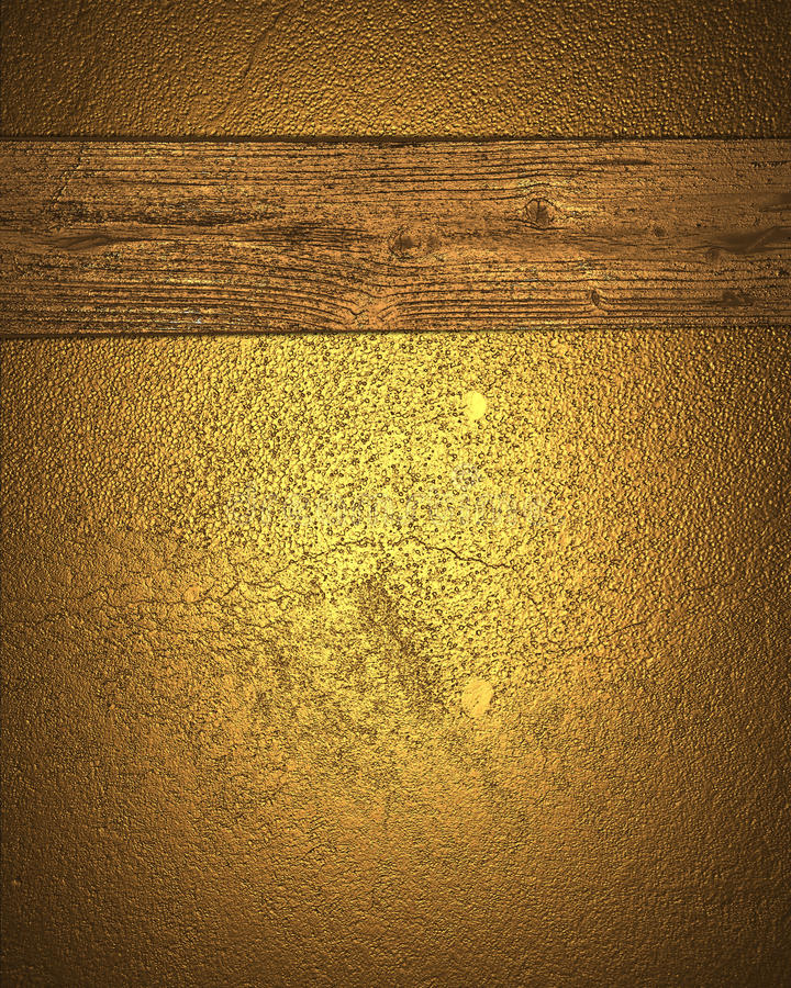 难看的东西与一个黄色委员会的金背景 设计的模板 向量例证