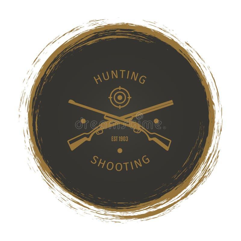 难看的东西与步枪的狩猎俱乐部商标 皇族释放例证