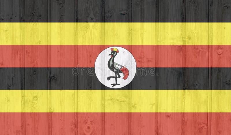 难看的东西乌干达旗子 皇族释放例证