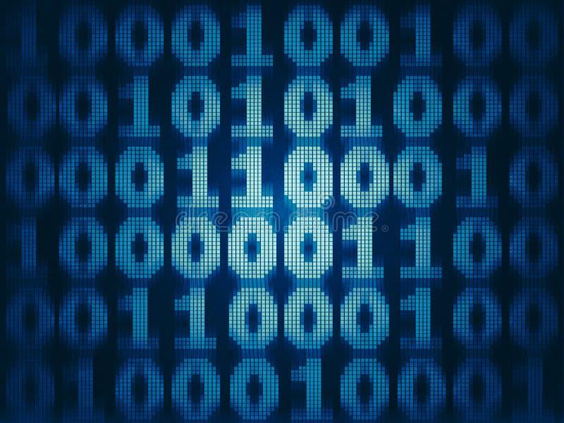 难看的东西二进制计算机编码 皇族释放例证