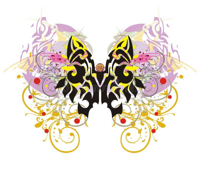 难看的东西五颜六色的蝴蝶飞溅 皇族释放例证