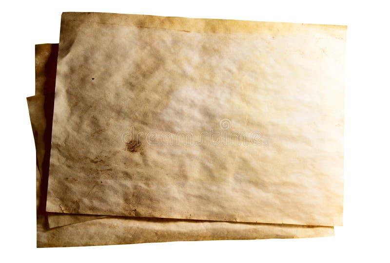 难看的东西使用的纸背景 图库摄影