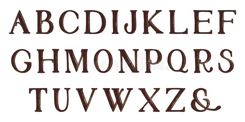 难看的东西充分的字母表 凹道现有量纸张水彩 传染媒介信件 皇族释放例证