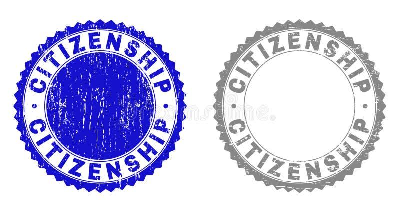 难看的东西公民身份构造了邮票 库存例证