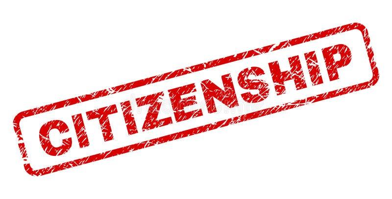 难看的东西公民身份环绕了长方形邮票 向量例证