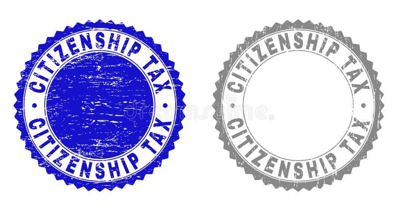 难看的东西公民身份税抓了水印 库存例证