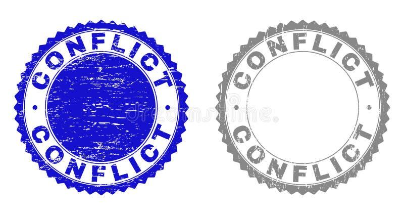 难看的东西冲突抓了邮票 向量例证