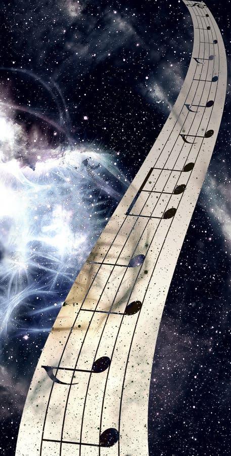 难看的东西减速火箭的音乐背景的例证与附注的 库存例证