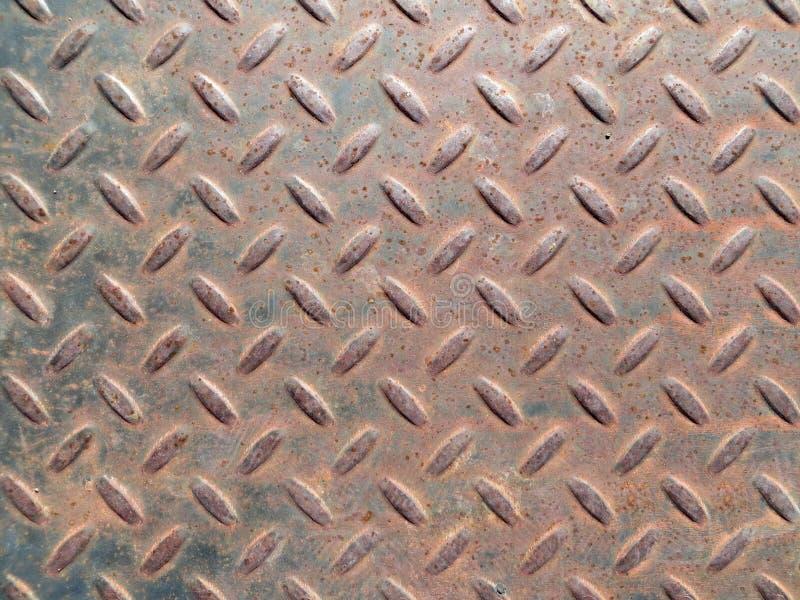 难看的东西几何长方形金刚石金属片样式 库存照片
