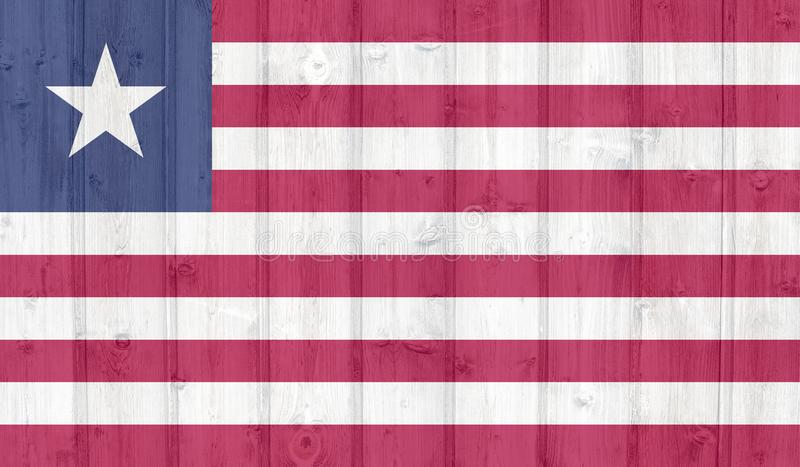 难看的东西利比里亚旗子 向量例证