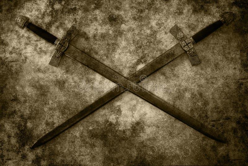 难看的东西剑背景 库存图片
