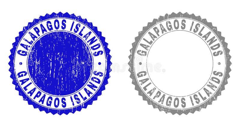 难看的东西加拉帕戈斯群岛构造了邮票 向量例证