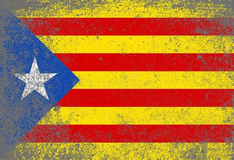 难看的东西加泰罗尼亚语旗子 向量例证