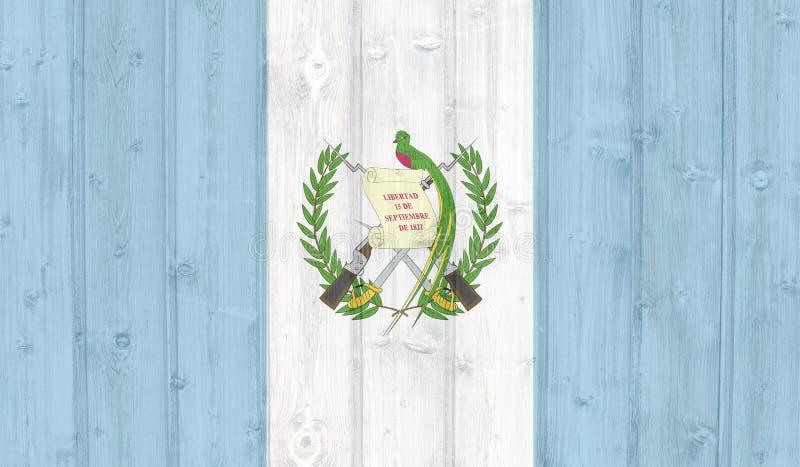 难看的东西危地马拉旗子 免版税库存照片
