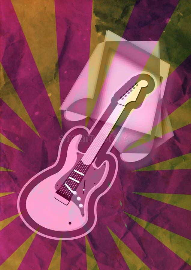 难看的东西吉他音乐笔记 向量例证
