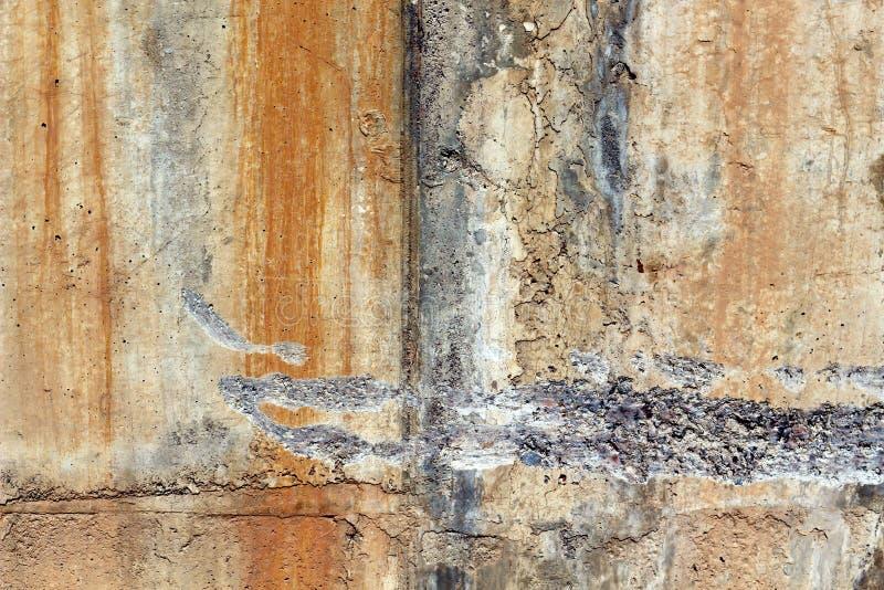 难看的东西墙壁背景和纹理元素 图库摄影