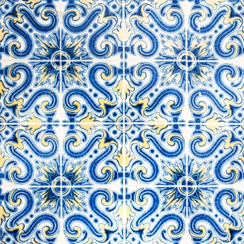 难看的东西墙壁艺术纹理/传统华丽葡萄牙decorati 免版税库存照片