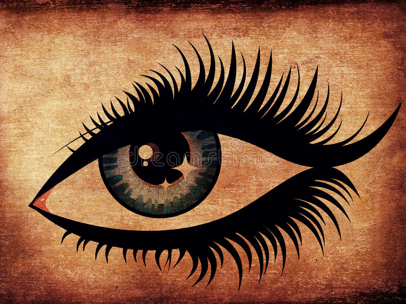 难看的东西妇女眼睛 向量例证