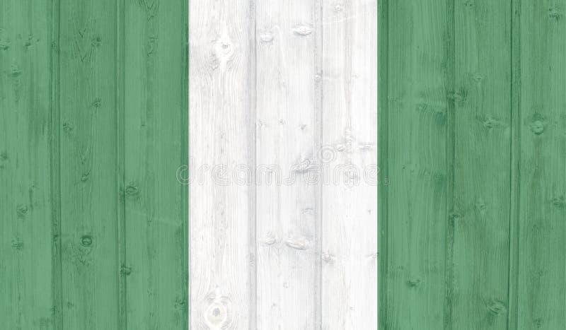 难看的东西尼日利亚旗子 皇族释放例证