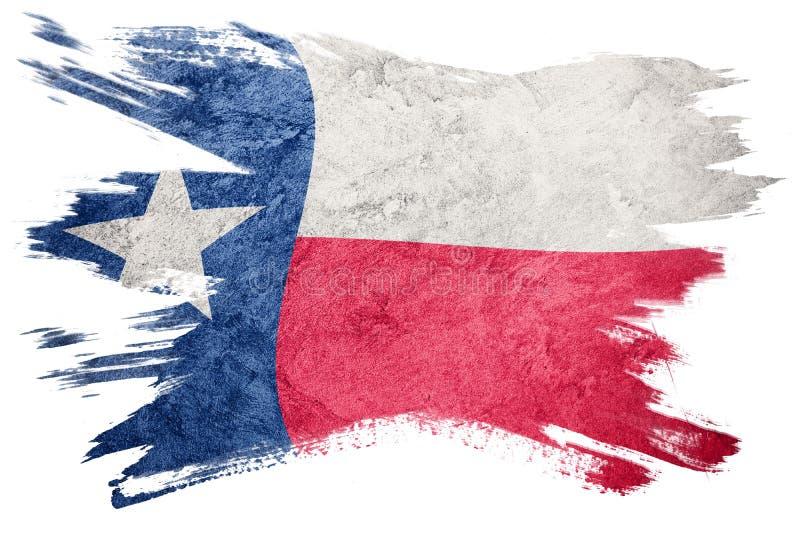 难看的东西得克萨斯状态旗子 得克萨斯旗子刷子冲程 免版税库存照片