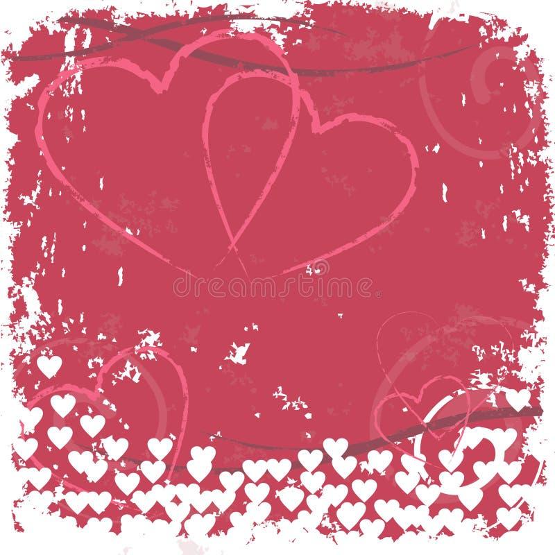 难看的东西心脏被盖印的背景 免版税库存图片