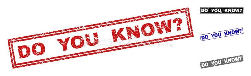 难看的东西您知道对被抓的长方形邮票封印表示怀疑 库存例证