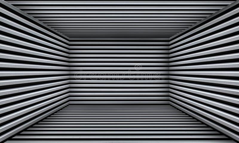 难看的东西抽象都市金属室舞台背景 库存图片