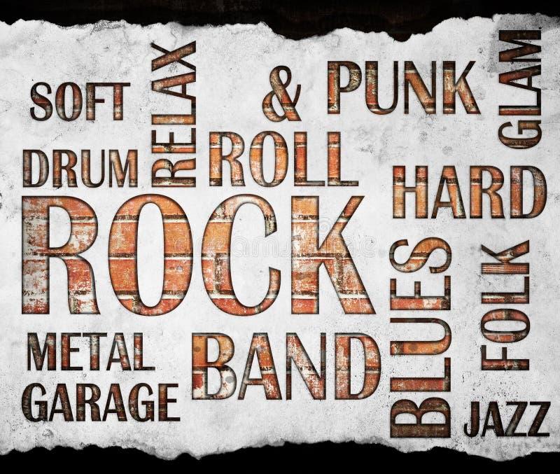 难看的东西摇滚乐海报 免版税图库摄影