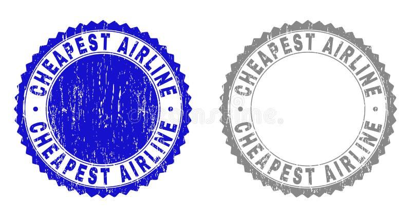 难看的东西最便宜的航空公司构造了邮票封印 皇族释放例证