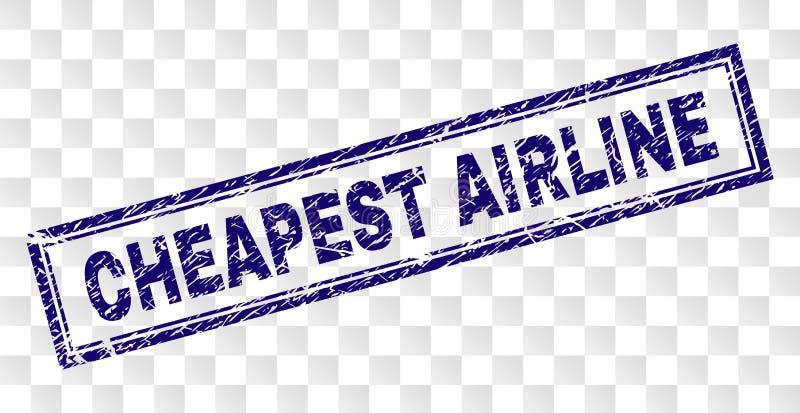 难看的东西最便宜的航空公司长方形邮票 向量例证