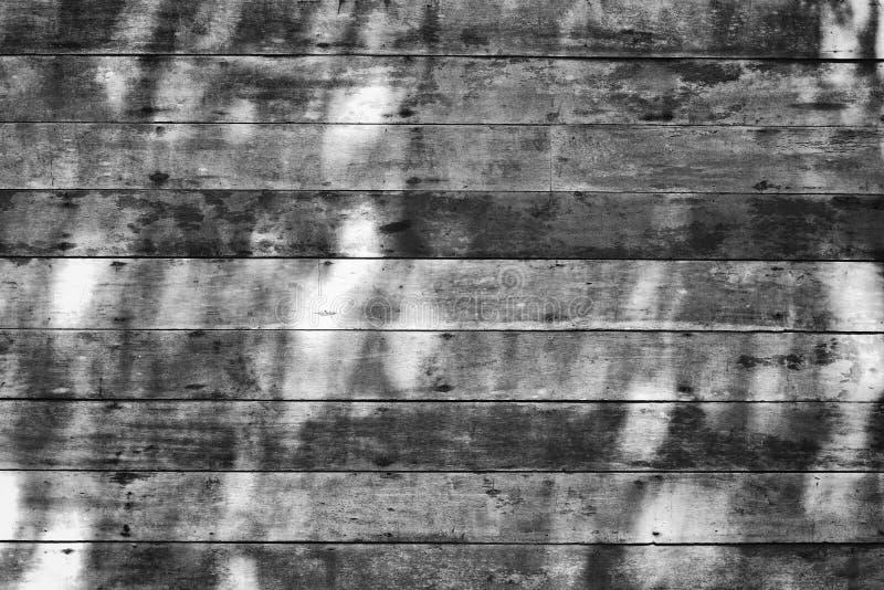 难看的东西木墙壁纹理在黑白的 免版税库存照片