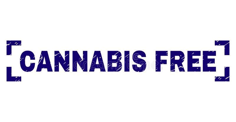 难看的东西构造了在角落里面的大麻自由邮票封印 库存例证