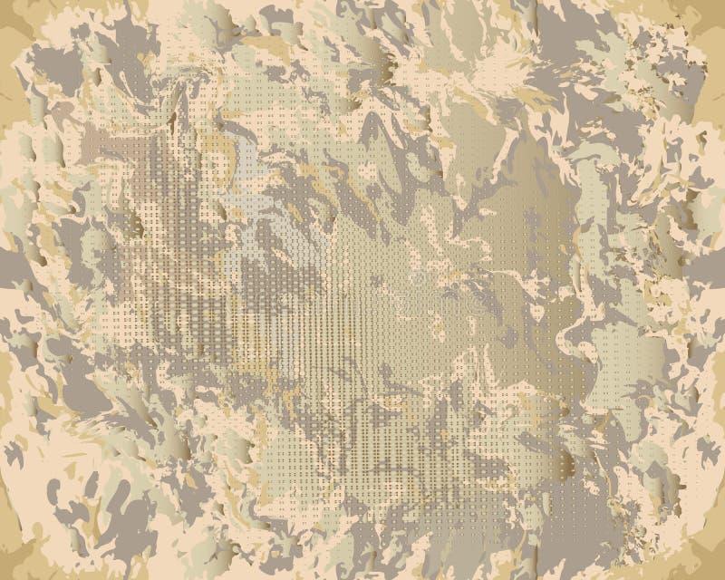 难看的东西构造了肮脏的被弄脏的传染媒介无缝的样式 老纸张 库存例证