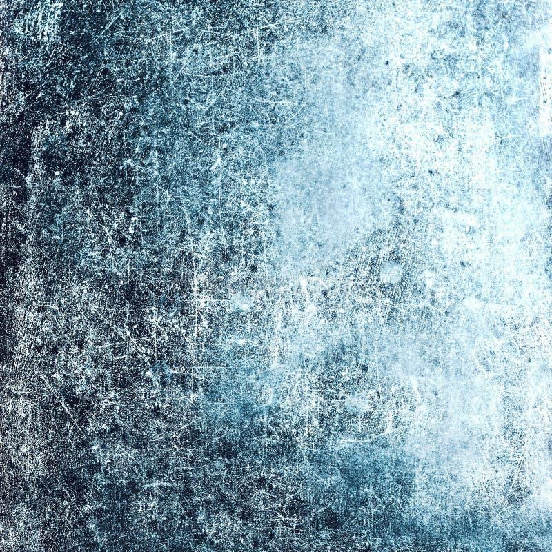 难看的东西构造了背景以您的设计的抓痕 蓝色 免版税图库摄影