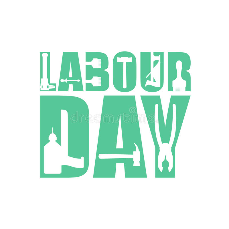 难看的东西样式劳动节象征  国际工作者`天日志 向量例证