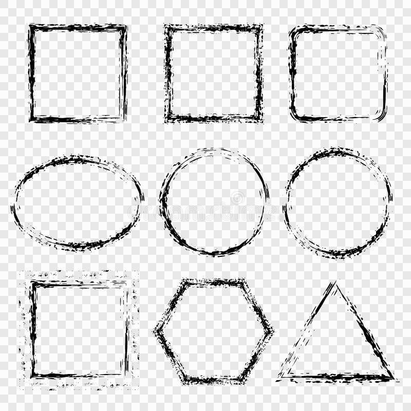 难看的东西框架,在透明背景的边界 设计我要素的画廊请参见类似您向量的访问 向量例证