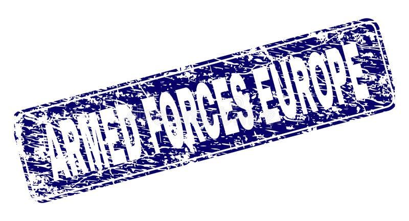 难看的东西武力欧洲被构筑的被环绕的长方形邮票 皇族释放例证
