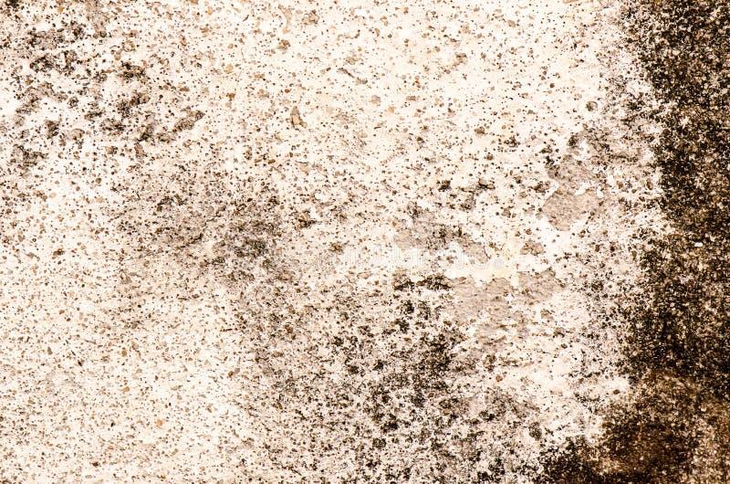 难看的东西混凝土墙被构造的或背景,具体肮脏与 免版税图库摄影