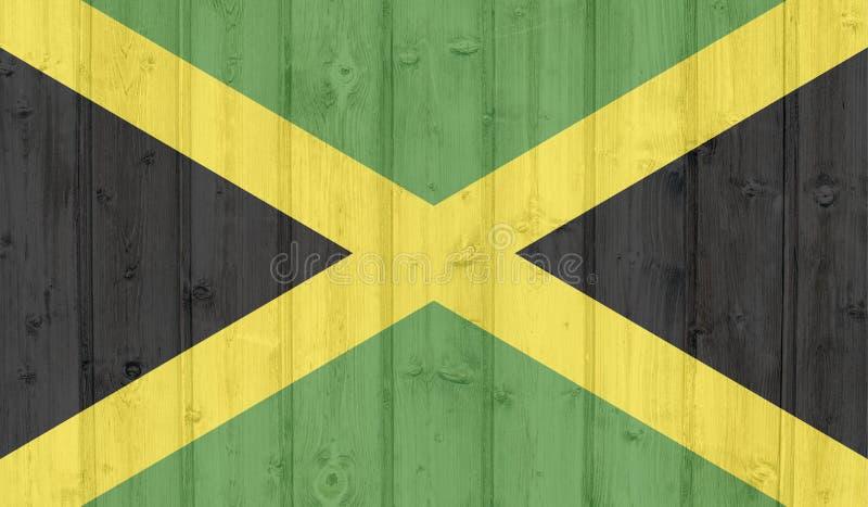 难看的东西牙买加旗子 向量例证