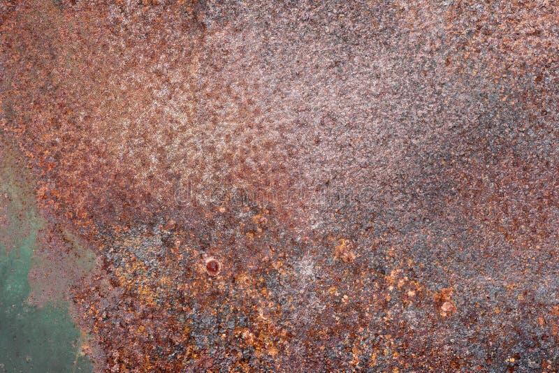 难看的东西生锈了金属纹理、铁锈和被氧化的金属背景 免版税库存照片