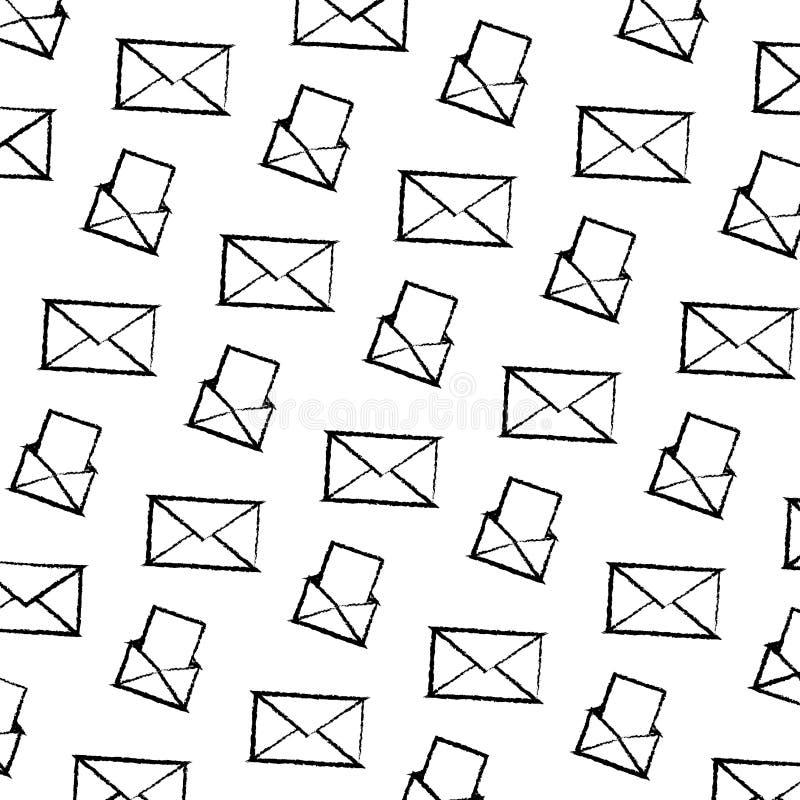 难看的东西电子邮件通信文件消息背景 皇族释放例证