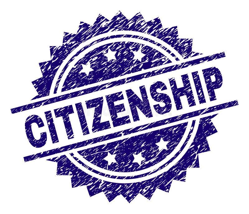 难看的东西织地不很细公民身份邮票封印 库存例证