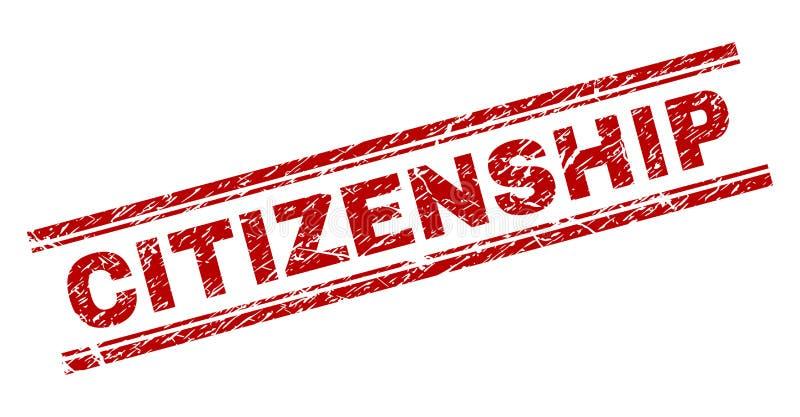 难看的东西织地不很细公民身份邮票封印 向量例证